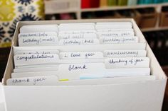 great card organization idea by @Studio_Calico member Toni From