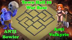 """Clash of Clans (TH10) """"Town Hall 10 War Base"""" Bomb Tower Anti-2 Star / War Base Layout!!! For More Clash of Clans (CoC) Videos http://www.youtube.com/c/RdjGa..."""