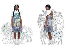 """""""Hadithi Hadithi"""" The new print look from Chichia London  What is not to love! What do you think?  http://www.africafashionguide.com/2015/05/chichia-presents-its-ss15-collection-hadithi-hadithi/"""