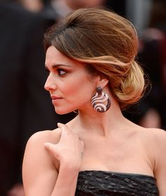 We love Cheryl Cole's hair at the Cannes Film Festival. Great idea for wedding hair.