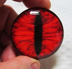 50mm Glass eye-Large glass eye-Big red dragon eye-Big by artistJP
