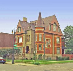 William Northwood Home Detroit 3985 Trumbull in the Woodbridge Historic District. Beautiful Castles, Beautiful Buildings, Beautiful Homes, Old Victorian Homes, Victorian Houses, Detroit Houses, Detroit Vs Everybody, Indiana, Detroit History