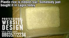 May God save us. Plastic rice is indeed real   A Guy Just Claimed He Bought Plastic Rice In Lagos (Pictures). Even his dog refused to eat it, sensing something was usual about the rice.               May God continue to protect us  . >>> See More >>>http://u.to/lMyhDw  ***************  *Now is the time to get great Website Design. .. Call/Whatsapp 08035772234