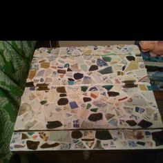 Sea glass table top