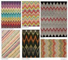 missoni flame stitch and zig zag patterns Chevron Rugs, Chevron Patterns, Print Patterns, Chevron Wallpaper, Chevron Crochet, Style Patterns, Missoni, Bargello Patterns, Bargello Quilts