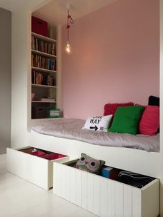 Kids room ideas from DIY to decorating to color schemes- so much inspiration to make your boy's room cozy and stylin'. Kids Room Bed, Girl Room, Girls Bedroom, Childrens Room Decor, Kids Room Design, Kid Beds, New Room, Kids House, Room Inspiration