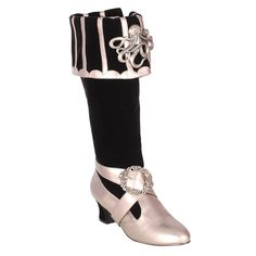 CTHULHU299 - BLACK BLACK AND SILVER RENAISSANCE OCTOPUS BOOT ($89)   Corset Story