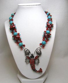 Lobster Fest - Jewelry creation by Linda Foust