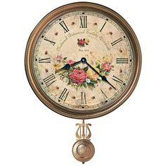 "Howard Miller Savannah 21"" High Botanical VII Wall Clock - #X5306   LampsPlus.com"