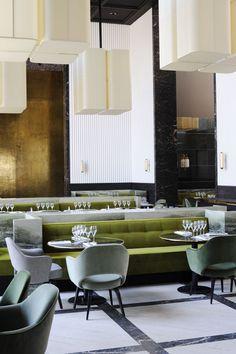 Restaurant sobre et élégant