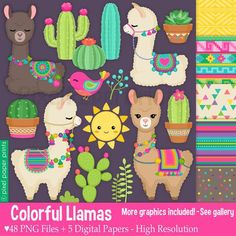 Are you looking for cute high quality clip art images to use in your projects? You've come to the right place! Alpacas, Llamas Animal, Llama Clipart, Llama Drawing, Cliparts Free, Llama Birthday, Photoshop Elements, Classroom Decor, Art Images