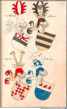Bruderschaftsbuch des jülich-bergischen Hubertusordens Niederrhein, um 1500 Cod.icon. 318  Folio 67r
