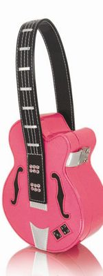 "Hot Pink Rockabilly Princess ""Mini"" Guitar Case Purse (Unique Vintage)"