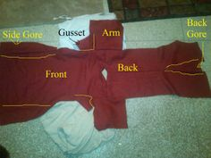 Great ideas for medieval tunic construction (from thrifted materials)