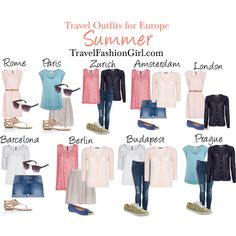 European Backpacking in Summer - Outfits by travelfashiongirls, via Polyvore