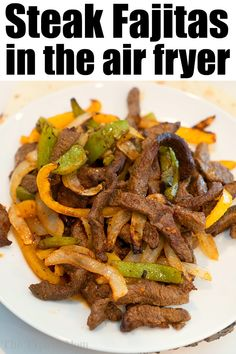 Beef air Fryer Fajitas are so easy to make! We used beef with a dry rub, onions … Beef air Fryer Fajitas are so easy to make! We used beef with a dry rub, onions and bell peppers and they were great in our Ninja Foodi and Cosori machines. Air Fryer Recipes Steak, Air Fryer Steak, Flank Steak Recipes, Air Fry Recipes, Air Fryer Dinner Recipes, Air Fryer Recipes Easy, Cooking Recipes, Ninja Recipes, Steak Fajita Recipe