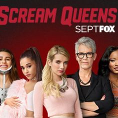 """New """"Scream Queens"""" promotional photo. With Ariana Grande!!"""