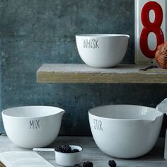 Labeled Kitchen Mixing Bowl Set | West Elm