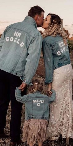 Hottest Trend 2020/2021: 18 Wedding Jackets ❤ wedding jackets denim with decals made with love #weddingforward #wedding #bride