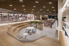 Public Library Design, Bookstore Design, Library Cafe, Office Space Design, Library Architecture, Futuristic Architecture, School Architecture, Interior Architecture, Corporate Interiors