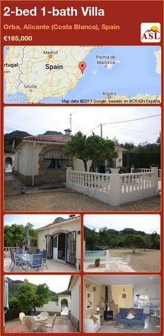 2-bed 1-bath Villa in Orba, Alicante (Costa Blanca), Spain ►€185,000 #PropertyForSaleInSpain