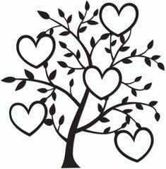 Silhouette Design Store - View Design #74602: tree of hearts
