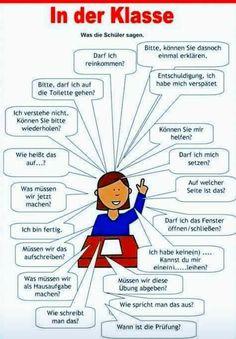 German in der klasse Study German, German English, Learn English, German Grammar, German Words, German Resources, Deutsch Language, Germany Language, German Language Learning