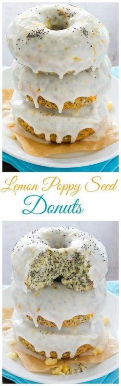 Lemon Poppy Seed Donuts - Baked, not fried, these easy donuts are ready in just 15 minutes!