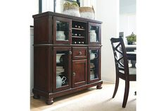 Rustic Brown Porter Dining Room Server View 1