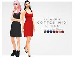 Maxis Match CC — sundayspells: cotton midi dress // download...