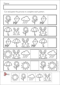 Math and Literacy Worksheets & Activities No Prep Kindergarten SPRING Math & Literacy unit. 93 pages in total. A page from the unit: PatternsKindergarten SPRING Math & Literacy unit. 93 pages in total. A page from the unit: Patterns Pattern Worksheets For Kindergarten, Patterning Kindergarten, Free Kindergarten Worksheets, Worksheets For Kids, Summer Worksheets, Thanksgiving Worksheets, Kindergarten Activities, Math Literacy, Preschool Math