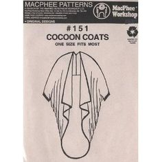 Lagenlook Patterns | Lagenlook patterns and line drawings / cocoon coat