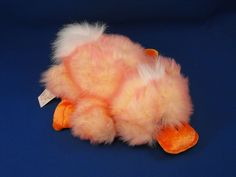New product 'DanDee Collectors Choice Orange White Full Body Puppet Duck' added to Dirty Butter Plush Animal Shoppe! - $12.00 - DanDee Collector's Choice Plush 11 inch Lying Down Orange White Tie Dye Colored Full Body Puppet Duck - White Fur Ha…