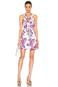 Image 1 of Tanya Taylor Ginny Dress in White & Hibiscus Multi