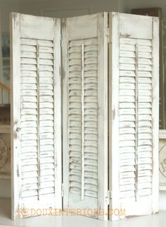 How to paint and distress shutters using CeCe Caldwell's 100% Natural Chalk + Clay Based paints.  Tip, only a paint brush and damp rag are needed!   REDOUXINTERIORS.COM FACEBOOK: REDOUX INSTAGRAM: REDOUXINTERIORS