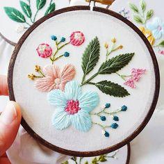 ручная вышивка гладью цветы