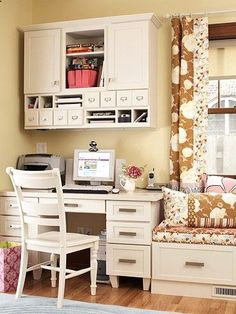I would love something like this in the upstairs family room. Or maybe the office? Adult Corner Office