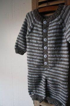 Knitted stripy onesie