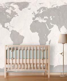 Teal World Map Wallpaper House Pinterest Teal Wallpaper And - World map wallpaper for nursery