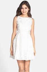 Aidan by Aidan Mattox Jacquard Sleeveless Fit & Flare Dress