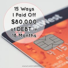 Read this story of how this couple paid off $80,000 of debt. This will give you some ideas of how you can also pay off your debt.