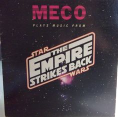 """Meco Plays Music From Star Wars The Empire Strikes Back Vintage Record Album Vinyl LP 10"""" Movie Soundtrack Space Influenced Music"""