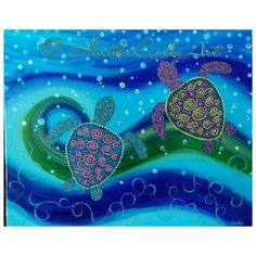 Hey, I found this really awesome Etsy listing at https://www.etsy.com/listing/209008688/sea-turtles-painting-16x20-canvas