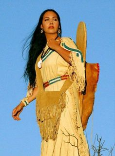 Lots of beauty to behold: Contemporary leather buckskin dress, lovely beading about the shoulders and waist, gorgeous Navajo wedding basket earrings and shell necklace, beautiful leather bag and cradle board. Native American Girls, Native American Beauty, Native American Photos, American Indian Art, Native American History, American Indians, American Symbols, Cultura Yaqui, Princesa India