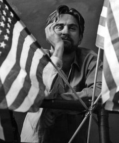 Robert De Niro on the set of The Deer Hunter