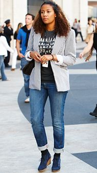 how to wear your favorite jeans street style cuffed jeans ankle boots