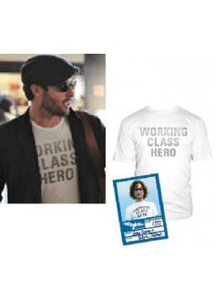 91ef168be Alex O'Loughlin - Worn Free - Worn by John Lennon, Shirts by John Lennon,  John Lennon T shirt Designs, John Lennon Music Shirts, John Lennon Music Tee