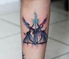 Harry Potter Deathly Hallows Tattoo Design