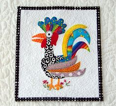 Free Paper-Pieced Rooster pattern!