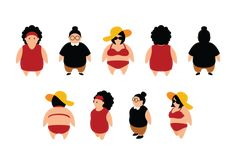 Kingdom of Women: Chewing the Fat - Top 10 Most Offensive Stereotype. Plus Size Art, Plus Size Girls, Pig Character, Better Half, Kids Health, Motion Design, Girl Cartoon, Art Images, Vector Art